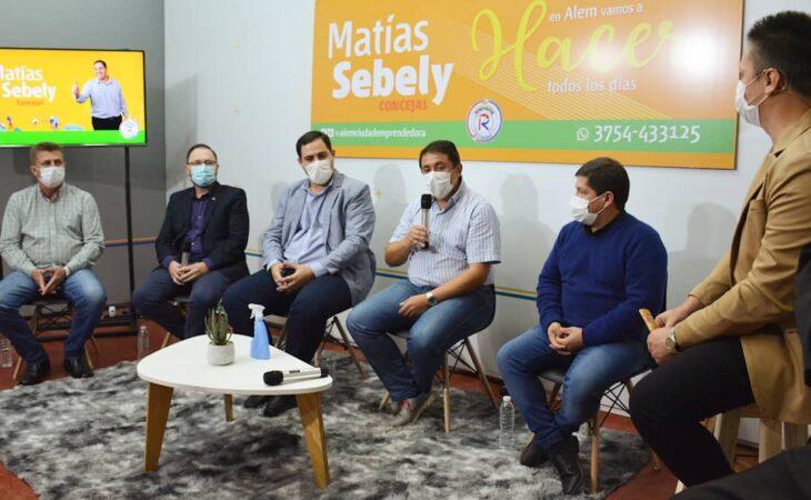 """Con el apoyo del Gobernador, se lanzó el Sublema """"Alem, Ciudad Emprendedora"""" encabezado por Matías Sebely"""