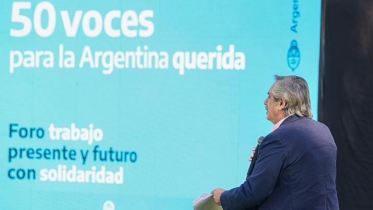Alberto Fernández pidió unidad a los gremios y a los empresarios que no suban los precios