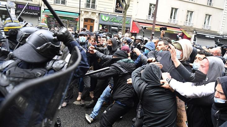 protestas del 1° de Mayo en París
