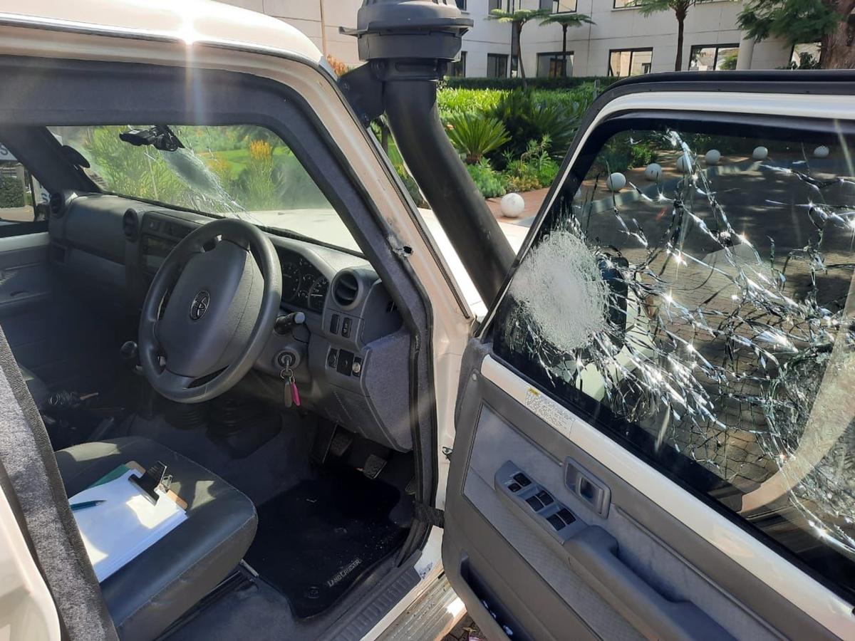 Video | Increíbles nervios de acero del conductor de un transporte de caudales durante un asalto