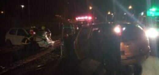 Hubo cuatro heridos en un choque frontal en el acceso a Guaraní