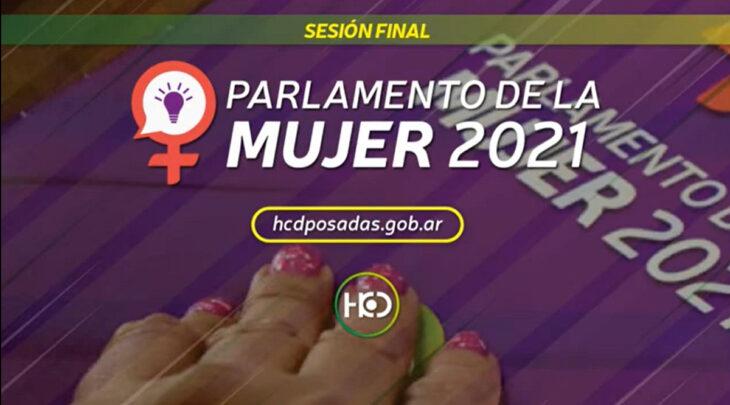 Parlamento de la Mujer 2021: cerró hoy en Posadas la cuarta edición que dejó 29 proyectos que podrían convertirse en Ordenanzas