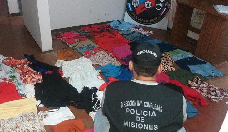 Secuestraron prendas de vestir robadas en una boutique de Posadas