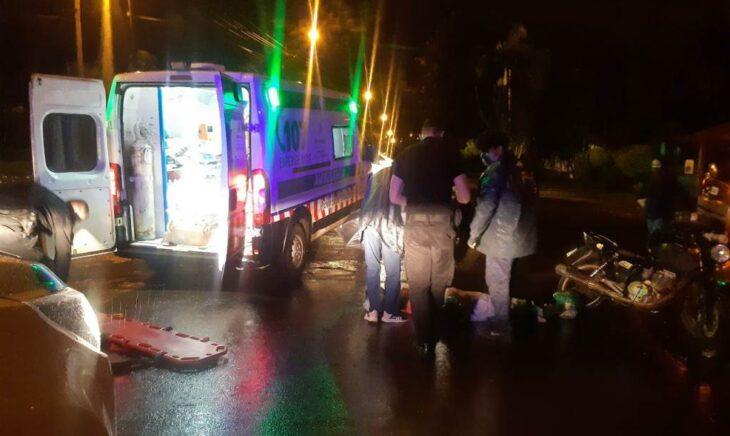 Accidente de tránsito en Oberá dejó una menor lesionada