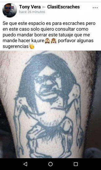 Aprovecharon que estaba borracho y sus amigos le tatuaron el Pombero