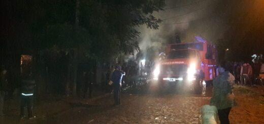 Posadas: se incendiaron dos viviendas en el barrio Itaembé Miní