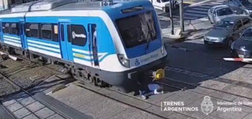 Impactante: el conductor de un tren evitó que un adolescente sea atropellado