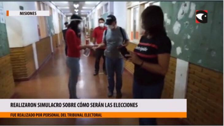 Elecciones seguras en Misiones: realizaron simulacros en escuelas de Posadas