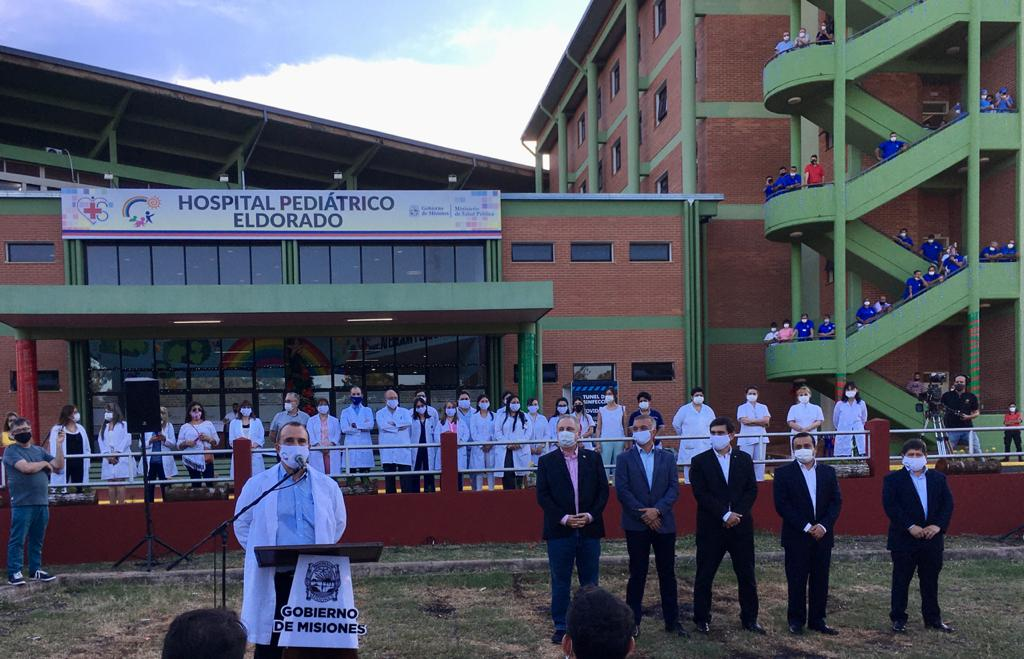 Reciente inauguración del Hospital Pediátrico, que forma parte del Samic.