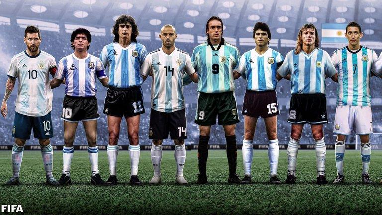16 íconos de la selección argentina