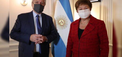"""Alberto Fernández se reunió con la directora del FMI: """"La vocación es encontrar un acuerdo lo más rápido posible"""""""