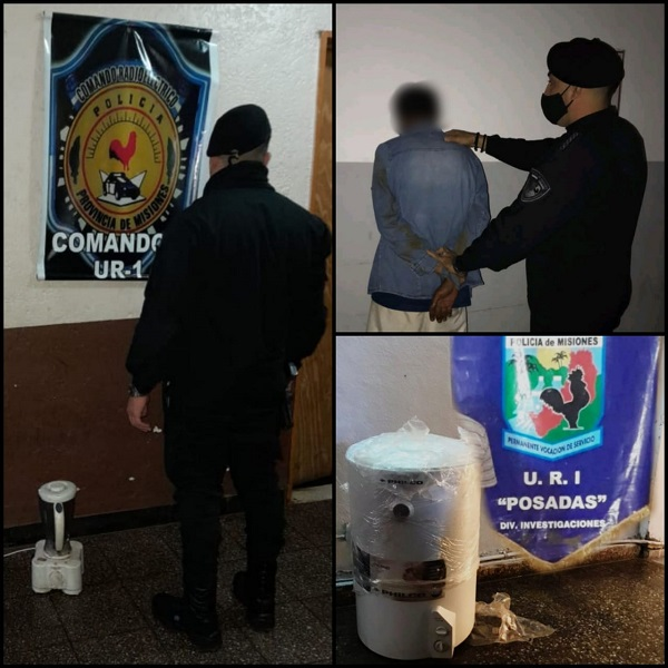 Incautaron objetosrobados y detuvieron a un hombre en Posadas