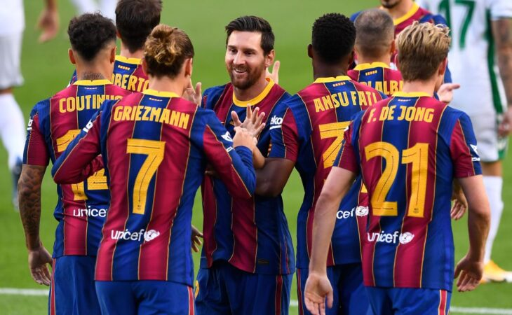 Lionel Messi reunió en su casa a todo el plantel del Barcelona