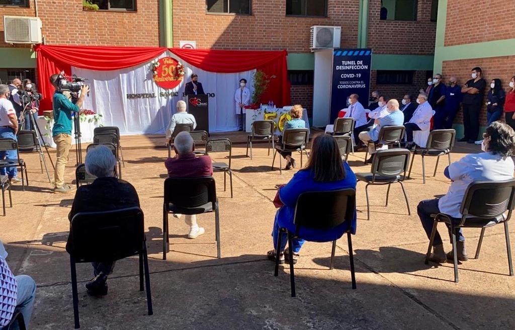 Realizaron el acto por el 50° aniversario del Hospital Samic Eldorado