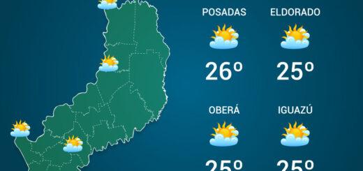El tiempo en Misiones: se espera un jueves fresco con temperaturas mínimas de 10°C en Apóstoles