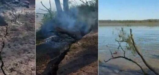 Hacían un asado a orillas del Paraná, pero el río se tragó la parrilla