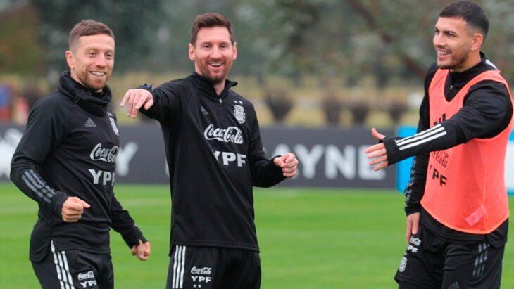 Copa América: el seleccionado argentino trabajó en la definición en el turno matutino