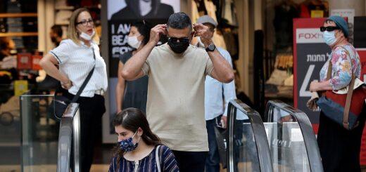 Israel adelantó a la reimposición del uso de tapabocas