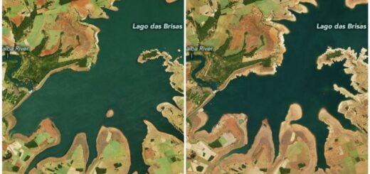 """Imágenes de la NASA confirman la preocupante sequía que atraviesa Brasil: """"Sería la peor en casi un siglo"""""""