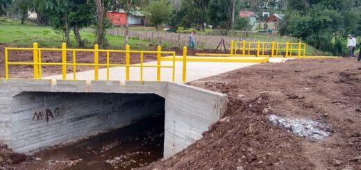 Programa 100 Puentes: Vialidad concluyó la construcción de un nuevo puente urbano en Andrade