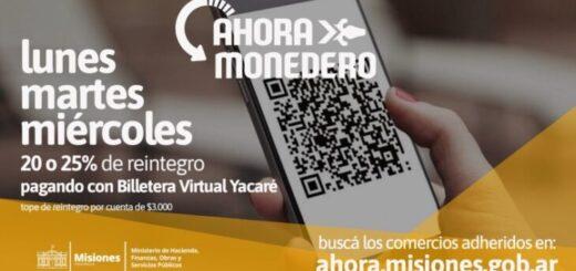 Ahora Monedero y Yacaré incentivan el consumo y desarrollo comercial en Misiones