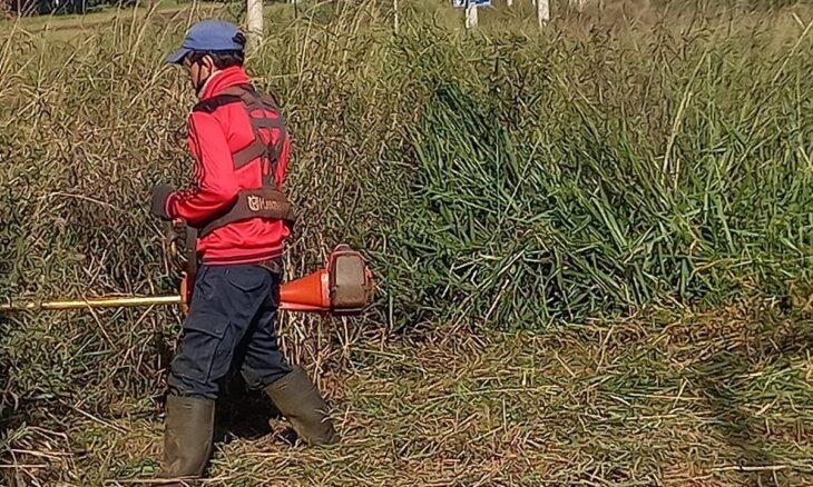 Se realizan trabajos de desmalezamiento y limpieza en Itaembé Guazú
