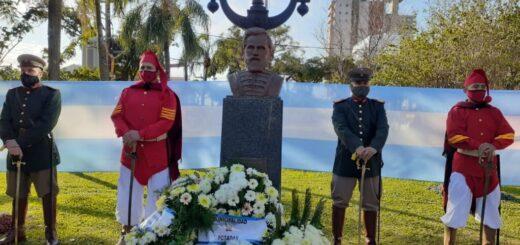 17 de Junio: realizaron una ofrenda frente a Gendarmería Nacional para conmemorar a Martín Miguel de Güemes