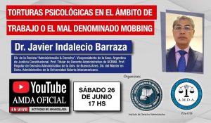 """Capacitación virtual y gratuita: disertarán sobre """"Torturas psicológicas en el ámbito de trabajo o el mal denominado Mobbing"""""""