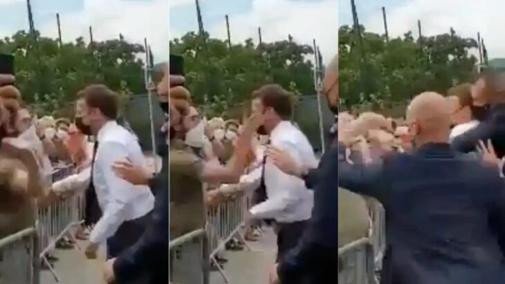 "<span style=""color: #ff6600;""><strong>Video<span style=""color: #000000;""> | </span></strong></span> Abofetearon al presidente Emmanuel Macron en su gira al sur de Francia"
