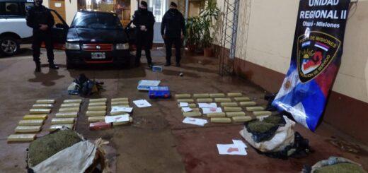 La Policía secuestró un auto repleto de marihuana en Oberá