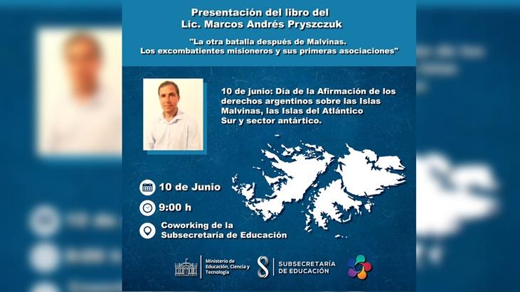 """Posadas: invitan a la presentación del libro """"La otra batalla después de Malvinas"""""""