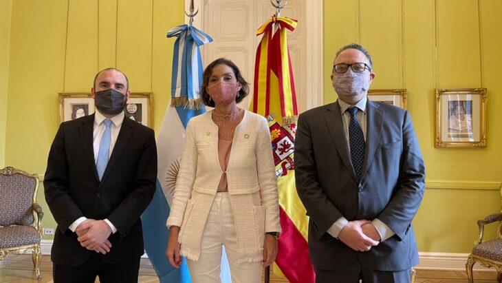 Matías Kulfas y Martín Guzmán se reunieron con la ministra de Industria de España