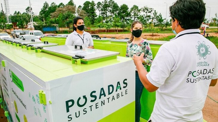 Ecopunto móvil: en dos meses recolectaron casi 1400 Kg. de residuos en Posadas