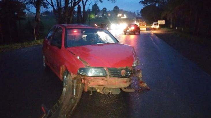 Chocaron un auto y un camión en la ruta 1 en Apóstoles, no hubo heridos