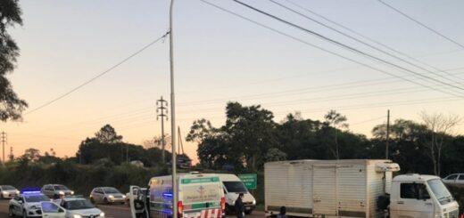 Un motociclista falleció en Oberá tras un triple choque en la ruta 14