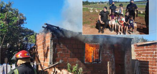 """Incendio en una vivienda de Posadas: """"Si no actuábamos rápido íbamos a encontrar a los niños calcinados"""""""