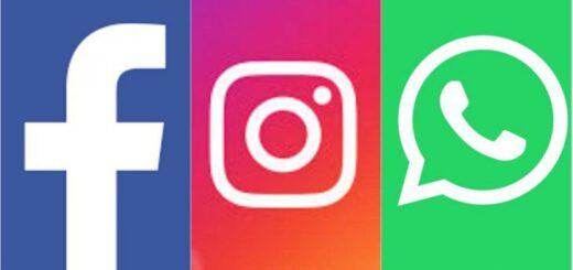 Facebook, Instagram y WhatsApp reportaron una caída del servicio por unos minutos