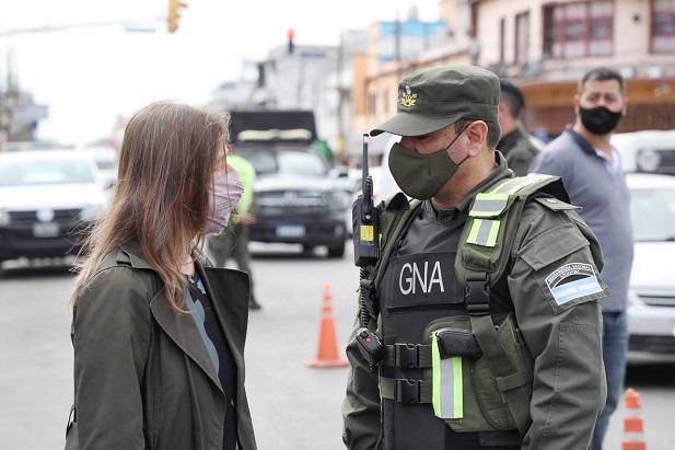 La ministra de Seguridad, Sabrina Frederic, felicitó a Gendarmería Nacional por su trabajo en nuestra región