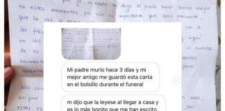La conmovedora carta de un joven a su amigo tras el fallecimiento de su padre