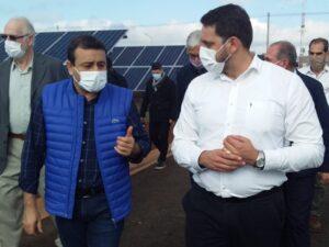 """Herrera Ahuad inauguró el primer parque fotovoltaico de la provincia, """"uno de los primeros pasos hacia la sustentabilidad y a la atención de la demanda energética"""""""