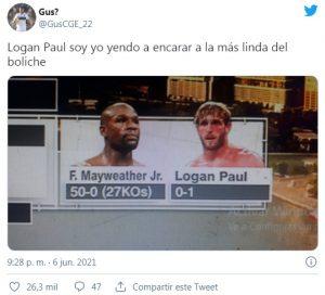 Mayweather no pudo noquear al youtuber Logan Paul y explotaron los memes en las redes sociales