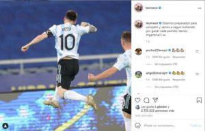 Lionel Messi se puso la Selección al hombro en un contundente mensaje en las redes sociales
