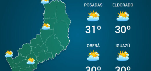El tiempo en Misiones: viernes cálido con una máxima que alcanzaría los 32°