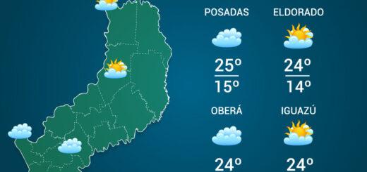 El tiempo en Misiones: miércoles nublado y con aumento de temperaturas