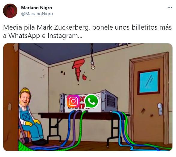 Otra vez se cayeron WhatsApp, Instagram y Facebook y explotaron los memes