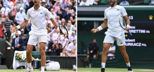 Djokovic define Wimbledon con Berrettini en busca del récord de títulos de Grand Slam