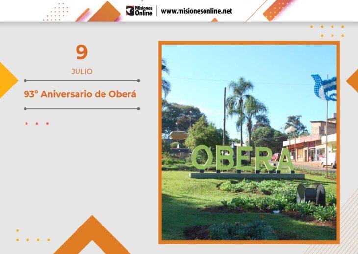Hoy la localidad de Oberá celebra el Aniversario N°93 de su fundación