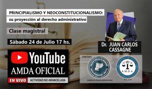 """Disertarán sobre """"Principialismo y Neoconstitucionalismo, su proyección al derecho administrativo"""""""