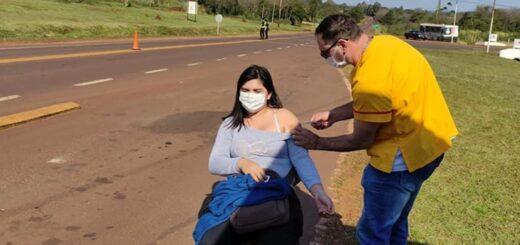 Vacunación en Misiones: el miércoles aplicaron 380 dosis contra el coronavirus en peajes y postas de la ruta nacional 14