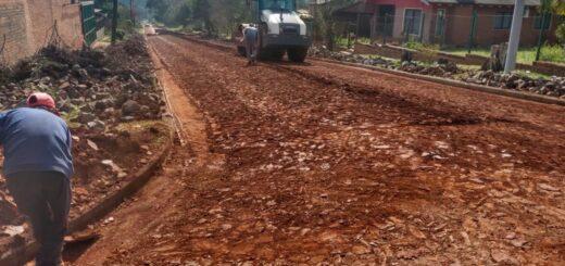 Vialidad ejecuta obras de empedrado en varios municipios: se completaron más de 300 cuadras